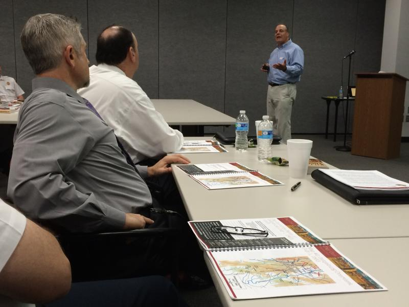 Paul Marcone conducting a leadership workshop in Pearland, Texas